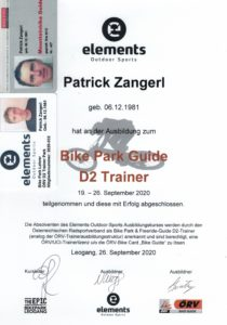 Bike Trainer Lizenz Patrick Zangerl